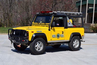 Brush 512 is a 1997 Land Rover Defender 90.  23 gpm high pressure pump/65, one of two similar units.