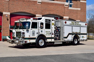 Labeled as Rescue Engine 510, Engine 510B is a 2005 Pierce Dash, 1500/500/40/40, sn- 16538.  This unit serves as a back-up for both Engine 510 and Rescue 510.
