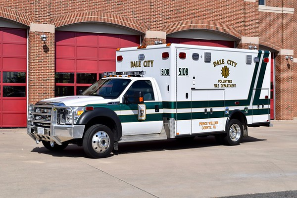 Ambulance 510B is a 2014 Ford F-550/Horton.