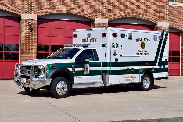 Ambulance 510 is a 2017 Ford F-550/Horton.  Purchased along with A508B (Yorkshire) and A525B (Nokesville).