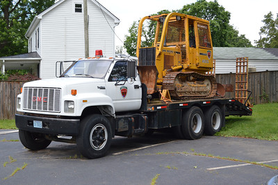 The Virginia Department of Forestry keeps this transport and dozer behind Station 1 in Manassas.