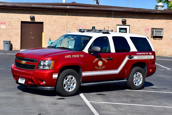 Marked as AC503, Safety 507 is a 2013 Chevy Tahoe.