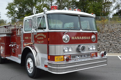 Privately owned is Manassas, Virginia's old Engine 1-2, a 1975 Hahn HCP527127548 with a 1250/500.
