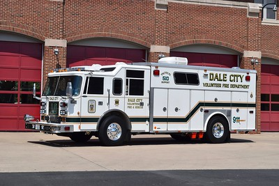 Dale City, VA Tactical Support 510 is a 1997 Pierce Saber that has a 1987 Bruco body.    This truck originally was delivered to the Lynchburg Life Saving Crew Rescue Squad in Virginia.  It originally had a 1987 Mack MC cab and then the body was put on the Pierce Saber cab.    TSU 510 carriers Pierce rehab number F3723, Bruco serial number 814, and Dale City shop #DC33.
