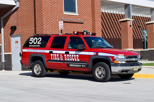 Battalion Chief 502's back-up buggy, a 2001 Chevrolet Suburban.