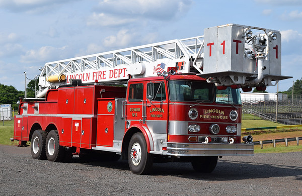 Manassas, Virginia's former Tower 1, a 1977 Hahn/LTI, 85'.  Sold to Lincoln, NH, in 2003.  Purchased in 2018 by a collector in Manassas, Virginia.  Plans are to re-letter it as it was owned by Manassas VFC.