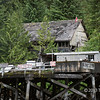 Butedale wharf and ruined buildings, Princess Royal Island, mid-coast British Columbia
