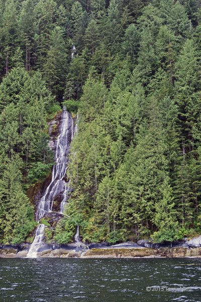 Waterfall 1, Inside Passage, northwest of Butedale, Princess Royal Island,  mid-coast British Columbia