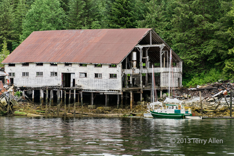 Remains of Butedale cannery, Butedale, Princess Royal Island, British Columbia
