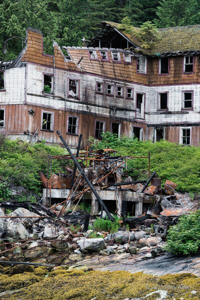 Remains of bunkhouse, Butedale, Princess Royal Island, British Columbia