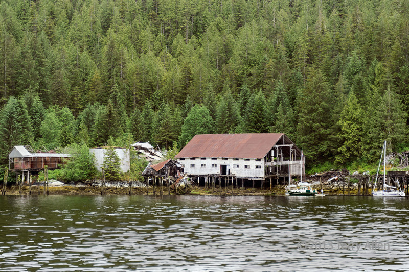 Ruined cannery, Butedale, Princess Royal Island, British Columbia