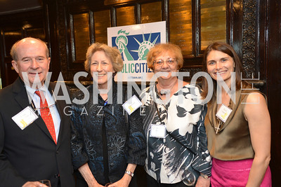 Marty Crowson, Judi Crowson, Anne Hunt, Rachel Vaagenes,Public Citizen Gala, National Press Club, Wednesday, May 14, Photo by Ben Droz