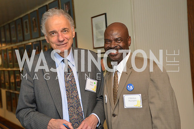 Olalckan Mustapha, Ralph Nader, Public Citizen Gala, National Press Club, Wednesday, May 14, Photo by Ben Droz