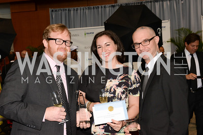 Nathan Anda, Lena Laskaris, Ed Witt, 2014 RAMMY Awards at the Walter E. Washington Convention Center, Sunday, June 22nd, 2014.  Photo by Ben Droz.