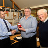 The RNLI recognised two of it's longest serving volunteers at Dun Laoghaire this month at a station gathering. Lifeboat Operations Manager (LOM) Stephen Wynne received the RNLI Gold Badge for more than 30 years of voluntary service, first as a crew-member and more recently as Lifeboat Operations Manager (LOM). Crew-member Kieran Brown also received the RNLI Long-Service badge in recognition of 20 years of service to the organisation that is the charity that saves lives at sea.<br /> Image features L to R: Mr <br /> Mr Owen Medland, RNLI Divisional Operations Manager presenting the RNLI's Gold Badge to Mr Stephen Wynne (LOM),  with Mr Terry Johnson, Chairman,  Lifeboat Management Group (Dun Laoghaire RNLI)