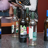 A thirsty crowd was sampling the various wines from the Mount Pleasant Winery.