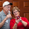Dawn Walker and Bill Clutts enjoying the wine tasting at Mt. Pleasant Winery.