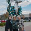 Judy Loomis, Joyce Brein and Bernadette Fideli take a break after shopping at the Landing in Branson.