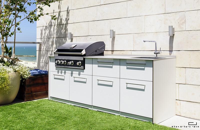 צילום אדריכלות: צילום מטבח חוץ של חברת רם אינגבר-מטבחי חוץ