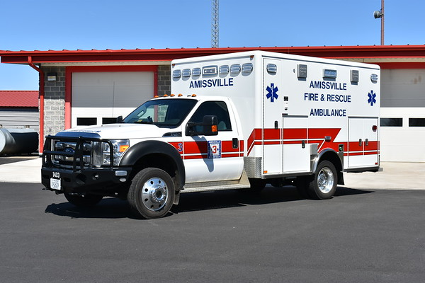 Ambulance 3 from Amissville, Virginia is a 2014 Ford F450 4x4 built by Horton.
