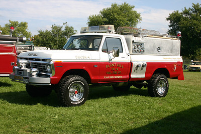 Flint Hill's former 1974 Ford F-250/Stinebaugh, 250/250 brush truck that is now privately owned.