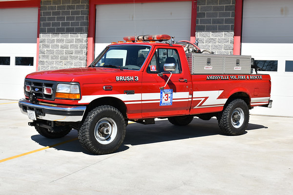 Amissville, Virginia Brush 3, a 1995 Ford F250/2004 FD with a 200/150/10A.  Received in 2004 by Amissville, this truck was previously a utility vehicle for the OWL Fire Department in Woodbridge, Virginia.