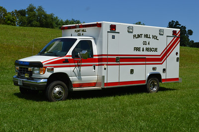 Flint Hill's back up ambulance is this 1996 E-350 4X4.