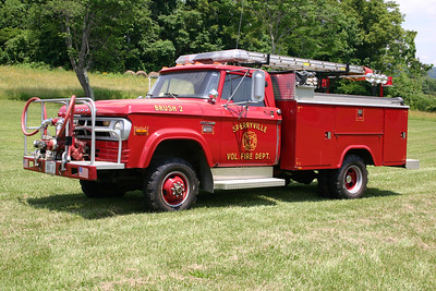 Former Brush 2 is still owned by the department, it is a 1970 Dodge Power Wagon 300/Stahl, 500/300.  Broadway Metal Works did body work on this truck in the mid-1980's.