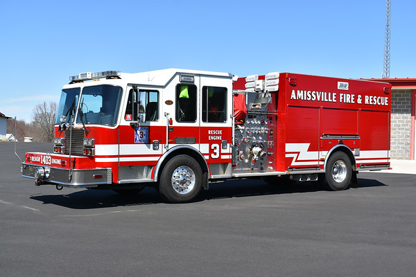 Rescue Engine 3 from Amissville, Virginia - a 2011 KME Predator with a 1250/750/40/30 and serial number GSO 8150.
