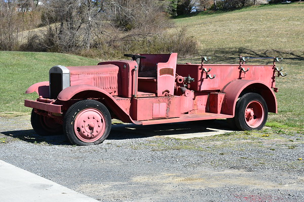 Sperrville's first fire truck, a 1938 USA 750/150.  Ex US Army and operated at Sperryville from 1947-1949.  It was built in Baltimore City at Camp Holibird.
