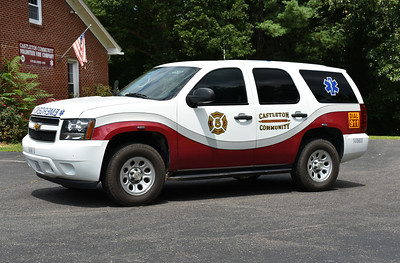 "Utility 5B from Castleton, VA in Rappahannock County was received in 2016.  It is a 2008 Chevrolet Tahoe 4x4, purchased in 2016 from a dealer in the Chicago area.  The Tahoe was once a police vehicle in the ""Midwest"".  Castleton had Utility 5B wrapped by FESCO."