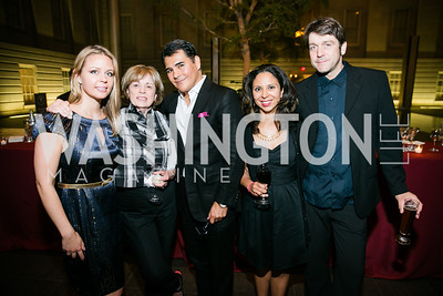 Lindsay Gabryszak, Carolyn Carr, Xavier Equiha, Taina Caragol, Marc Neumann. Photo by Alfredo Flores. Reception and presentation of Renee Fleming portrait. National Portrait Gallery