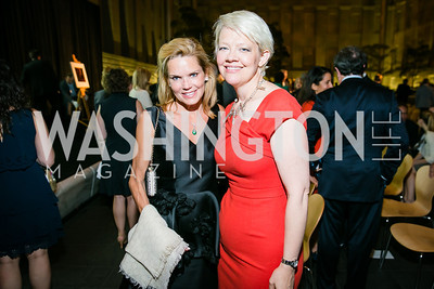 Ann Fahmy, Kim Sajet. Photo by Alfredo Flores. Reception and presentation of Renee Fleming portrait. National Portrait Gallery. June 4, 2014