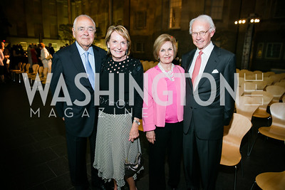 Linda Mercuro, Robia Mercuro, Vicki Sant, Roger Sant. Photo by Alfredo Flores. Reception and presentation of Renee Fleming portrait. National Portrait Gallery