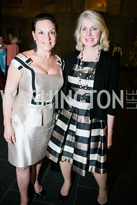 Grace Bender, Jan Smith. Photo by Alfredo Flores. Reception and presentation of Renee Fleming portrait. National Portrait Gallery. June 4, 2014