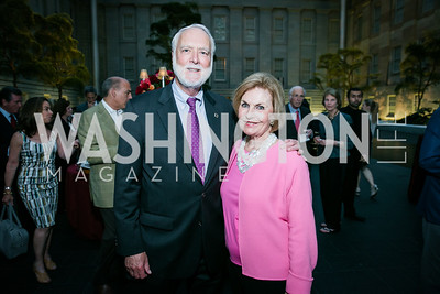 G. Wayne Clough, Vicki Sant. Photo by Alfredo Flores. Reception and presentation of Renee Fleming portrait. National Portrait Gallery. June 4, 2014