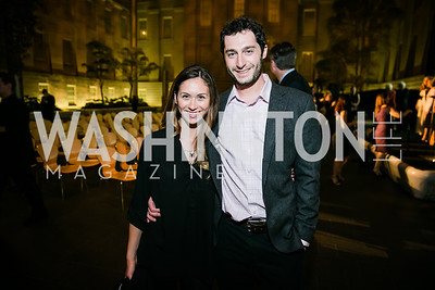Lauryn Kalbermatten-Goldberg, Matthew Winer. Photo by Alfredo Flores. Reception and presentation of Renee Fleming portrait. National Portrait Gallery. June 4, 2014