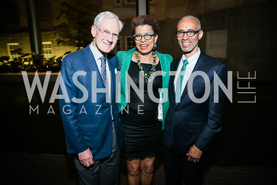Mallory Walker, Sheryll Cashin, Marque Chambliss. Photo by Alfredo Flores. Reception and presentation of Renee Fleming portrait. National Portrait Gallery