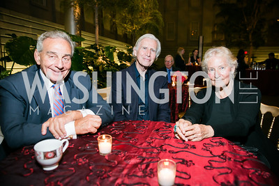 Alan R. Novak, Brian O'Doherty, Barbara Novak. Photo by Alfredo Flores. Reception and presentation of Renee Fleming portrait. National Portrait Gallery