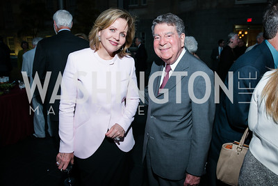 Renée Fleming, Calvin Cafritz. Photo by Alfredo Flores. Reception and presentation of Renee Fleming portrait. National Portrait Gallery. June 4, 2014