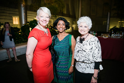 Kim Sajet, Elizabeth Thomas, Angela Lore. Photo by Alfredo Flores. Reception and presentation of Renee Fleming portrait. National Portrait Gallery