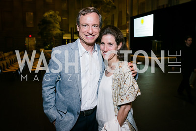Philip de Picciotto, Trinka Roeckelein. Photo by Alfredo Flores. Reception and presentation of Renee Fleming portrait. National Portrait Gallery