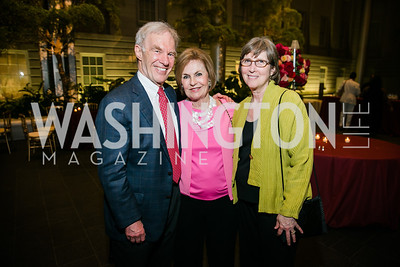 Arthur Wheelock, Vicki Sant, Perry Wheelock. Photo by Alfredo Flores. Reception and presentation of Renée Fleming portrait. National Portrait Gallery