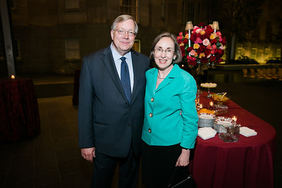 Joseph Shumard, Ann Shumard. Photo by Alfredo Flores. Reception and presentation of Renee Fleming portrait