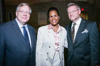 Joseph Shumard, Andrea Drummond, David Krol. Photo by Alfredo Flores. Reception and presentation of Renee Fleming portrait. National Portrait Gallery