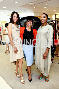 Crystal Wright, Barbara Wright, Natasha Dawson. Photo by Tony Powell. Reed Krakoff Fashion Show and Brunch. Saks Jandel. May 18, 2014