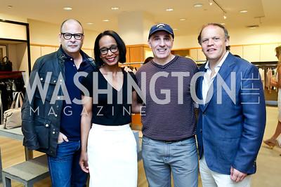 Reed Krakoff, Robin Givhan, Mitch Rales, Mark Ein. Photo by Tony Powell. Reed Krakoff Fashion Show and Brunch. Saks Jandel. May 18, 2014