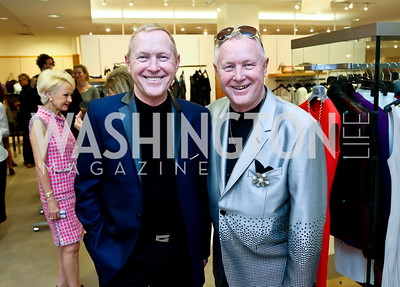 Ron and Bob Stewart. Photo by Tony Powell. Reed Krakoff Fashion Show and Brunch. Saks Jandel. May 18, 2014