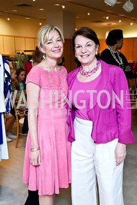 Mariella Trager, Grace Bender. Photo by Tony Powell. Reed Krakoff Fashion Show and Brunch. Saks Jandel. May 18, 2014