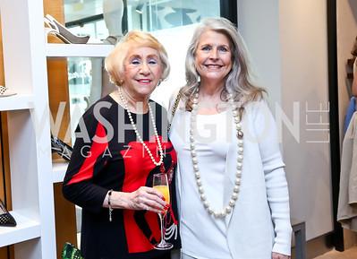 Doria Kaplan, Barbara Hawthorne. Photo by Tony Powell. Reed Krakoff Fashion Show and Brunch. Saks Jandel. May 18, 2014